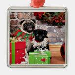 Christmas - Pug - Daisy Mae and Lily Lou Christmas Ornament