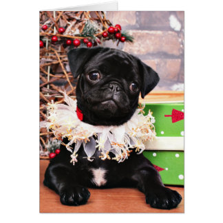 Christmas - Pug - Daisy Mae Greeting Card
