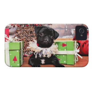 Christmas - Pug - Daisy Mae iPhone 4 Cases