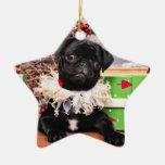Christmas - Pug - Daisy Mae Ornament