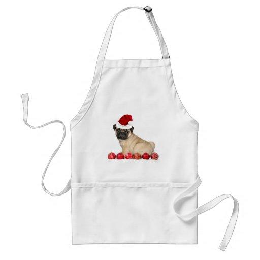 Christmas pug dog apron