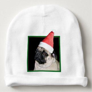 Christmas pug dog baby beanie