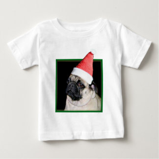 Christmas pug dog baby T-Shirt