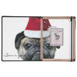 Christmas pug dog iPad folio cases