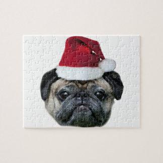 Christmas pug dog jigsaw puzzle