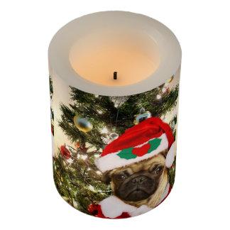 Christmas Pug Dog LED candle Flameless Candle