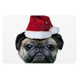 Christmas pug dog magnet