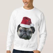 Christmas pug dog men's shirt