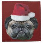 Christmas pug dog napkin