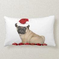 Christmas Pug dog Pillows