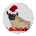 Christmas pug dog poker chips set
