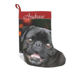 Christmas Pug dog stocking