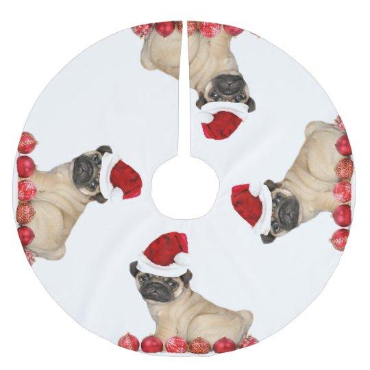 Christmas Pug Dog Tree Skirt Zazzlecom