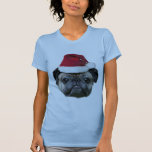 Christmas pug dog woman's shirt