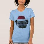 Christmas pug dog woman's shirt
