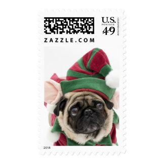 Christmas Pug Elf Stamps