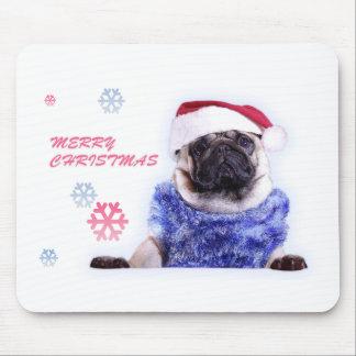 Christmas pug gift, art, gear, apparel,stuff mouse pad
