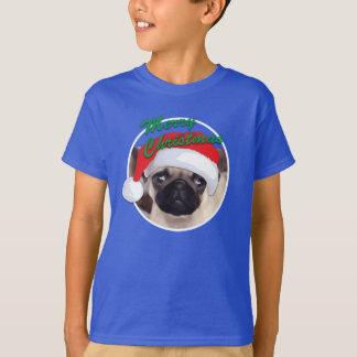Christmas Pug - Kids' Basic Hanes T-Shirt
