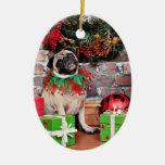 Christmas - Pug - Lily Lou Christmas Tree Ornaments