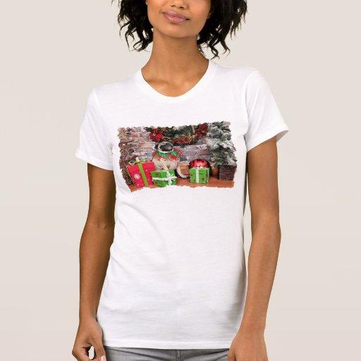 Christmas - Pug - Lily Lou Tshirts