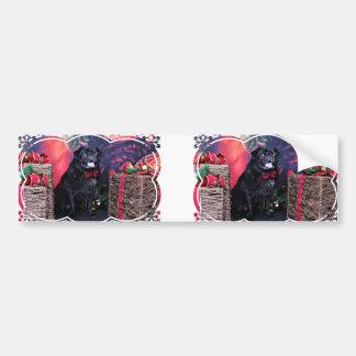 Christmas - Pug - Little Moe Bumper Stickers
