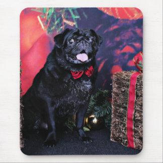 Christmas - Pug - Little Moe Mouse Pad