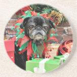 Christmas - Pug - Michaelis Coaster