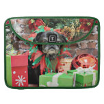 Christmas - Pug - Michaelis MacBook Pro Sleeves