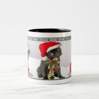 Christmas Pug Mugs Holiday Poses