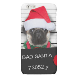 Case Savvy iPhone 6 Glossy Finish Case with Pug Phone Cases design
