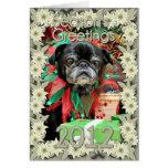 Christmas - Pug - Penny Greeting Card