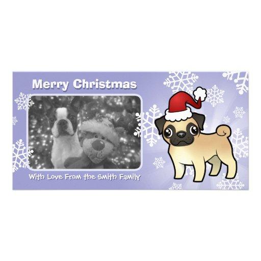 Christmas Pug Photo Card