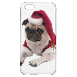 Case Savvy Matte Finish iPhone 5C Case with Pug Phone Cases design