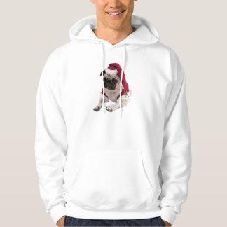 Christmas pug - santa claus dog - dog claus hoodie