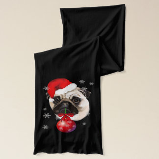 Christmas Pug Scarf