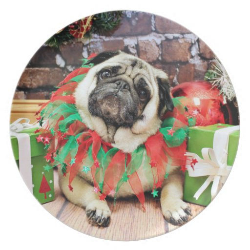 Christmas - Pug - Spencer Party Plate
