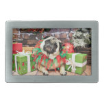 Christmas - Pug - Spencer Rectangular Belt Buckle