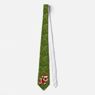 Christmas pug tie