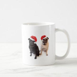 christmas pugs coffee mug