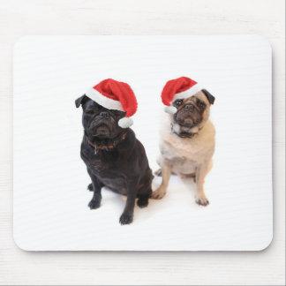 christmas pugs mouse pad