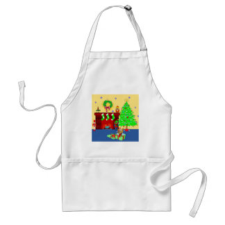 Christmas Puppy Adult Apron