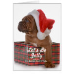 Christmas Puppy As Santa Card