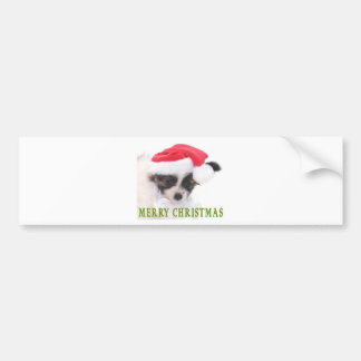 CHRISTMAS PUPPY BUMPER STICKERS