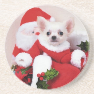 Christmas Puppy Drink Coasters