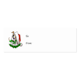 Christmas Puppy Gift Tags Double-Sided Mini Business Cards (Pack Of 20)