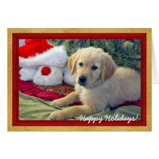 Christmas Puppy - Greeting Card