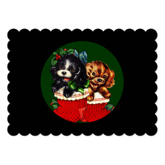 Christmas Puppy Hello Card