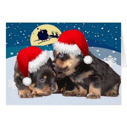 Christmas Puppy: I Saw Mummy Kissing Santa Claus Card