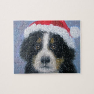 Christmas Puppy Jigsaw Puzzle for child or adult
