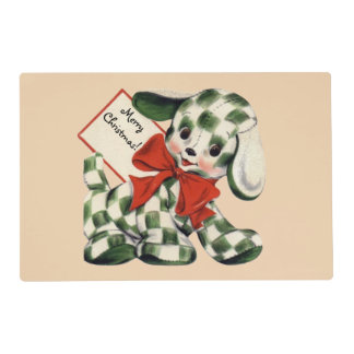 Christmas Puppy Placemat
